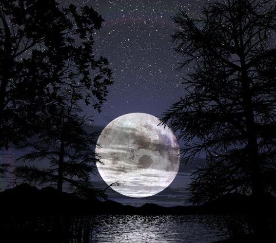 notte, immagine luna piena, foto della notte, bruno pompili, l'invenzione della notte, zenzero e tabacco, zenzero