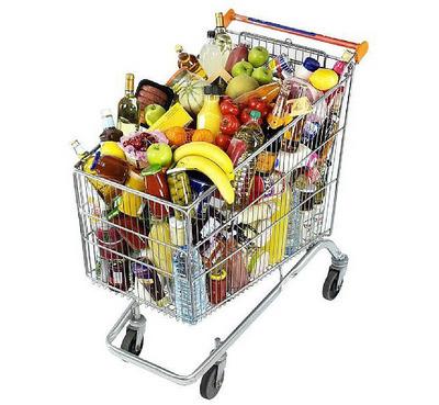 carrello spesa di natale, spesa carrello, cassiere natale, feste supermercati, torroni